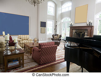 暮らし, ピアノ, 部屋, 壮大