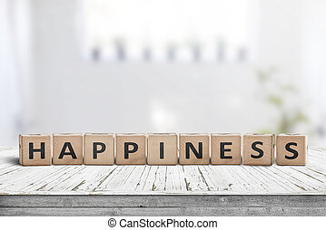 暮らし, 作られた, 部屋, 印, 明るい, 木, 幸福
