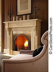 暮らし, 暖炉, 部屋