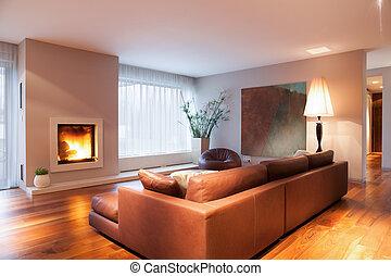 暮らし, 暖炉, 部屋, 燃焼