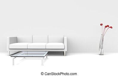 暮らし, 白, 現代部屋