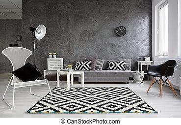 暮らし, minimalistic, 灰色, 部屋