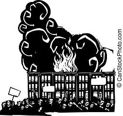 暴亂, 巴爾的摩