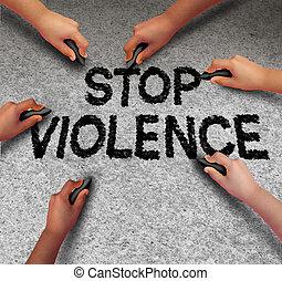 暴力, 停止