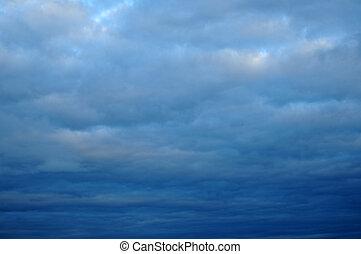 曇っている, 雷雨, 雲
