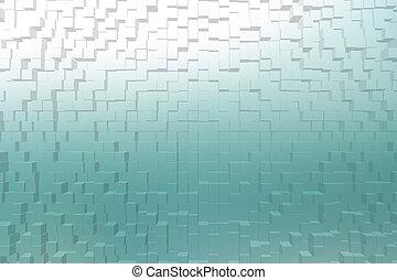 曇らされた ガラス, シアン, 色, 3d, ブロック, スタイル