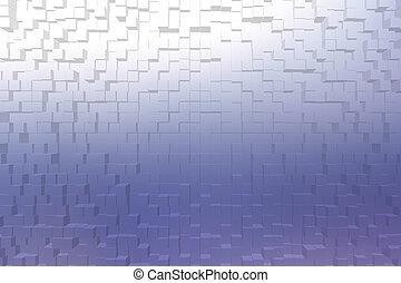 曇らされた ガラス, 青, 色, 3d, ブロック, スタイル