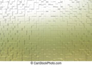 曇らされた ガラス, 黄色, 色, 3d, ブロック, スタイル
