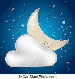 曇らせている, 月