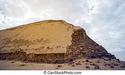 曲がった, ステップ, エジプト, ピラミッド, 学びなさい, 建造しなさい, エジプト人, いかに, 歴史, ...