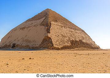 曲がった, ピラミッド, al, エジプト, dahshur, jizah, sneferu's