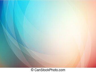 曲がった, 背景, 抽象的, 色