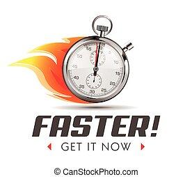 更快, -, 時間, 是, 跑, 在外, -, stopwatch, 概念