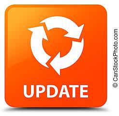 更新, (refresh, icon), オレンジ正方形, ボタン