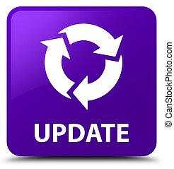 更新, (refresh, icon), 紫色, 広場, ボタン