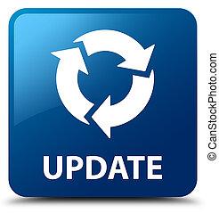 更新, (refresh, icon), 青い正方形, ボタン