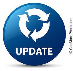更新, (refresh, icon), 青, ラウンド, ボタン