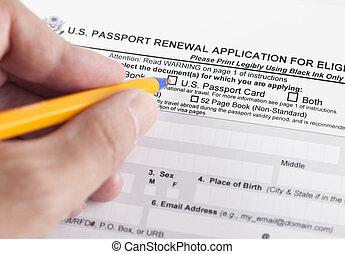 更新, u.。s.。, 資格がある, 適用, 個人, パスポート