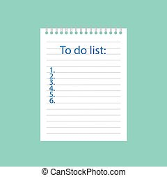 書かれた, ノート, リスト