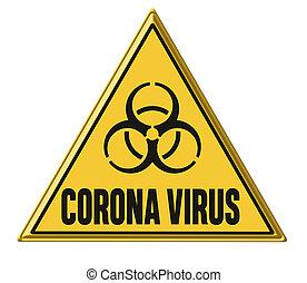 書かれた, 印, コロナ, 警告, ウイルス
