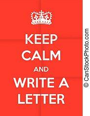 書きなさい, 手紙, 背景