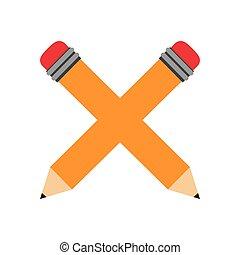書きなさい, 鉛筆, 隔離された, アイコン
