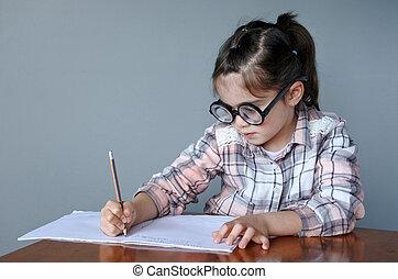 書く, nerdy, 物語, 子供