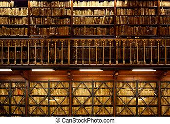 書だな, 図書館