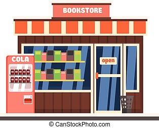 書店, front., 矢量, 插圖