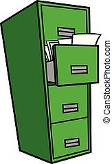 書類整理キャビネット