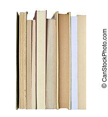書, 上, 書架, 被隔离, 在上方, 白色