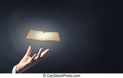 書, 在, 手