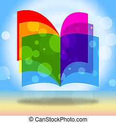 書, 教育, 顯示, 教育, 學校, 以及, 學習