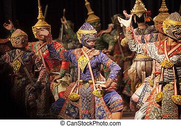 曼谷, 泰國, -, 八月, 7, hanuman, 兄弟, 一, 分開, praram