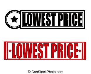 最も低く, 価格
