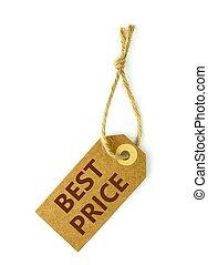最も良く, 価格, ラベル