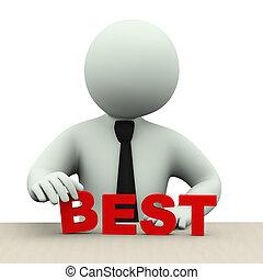 最も良く, 単語, 3d, 人, ビジネス