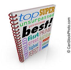 最も良く, 売り手, ブックカバー, 偉人, アドバイス, マニュアル, 指示