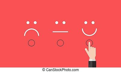 最好, 感情, 概念, 调查, 客户, 商业, 幸福, 反馈, 符号, 队, 服务