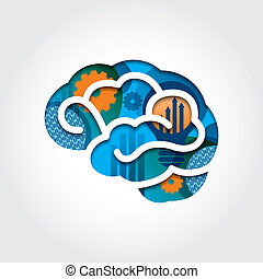 最小である, スタイル, 脳, イラスト, ∥で∥, ビジネス 概念
