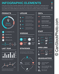 最小である, ビジネス, infographics, vecto