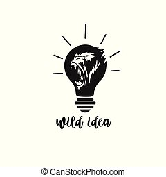 最小, 標識語, ......的, 大猩猩, 矢量, 插圖, design.