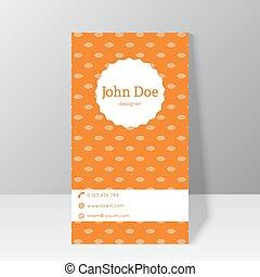 最新流行である, カード, テンプレート, ビジネス