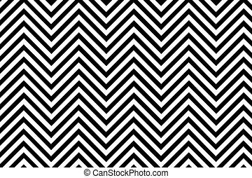 最新流行である, 山形そで章, バックグラウンドをパターン装飾した, 黒い、そして白い