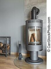 最新流行である, 新しい, デザイン, 暖炉