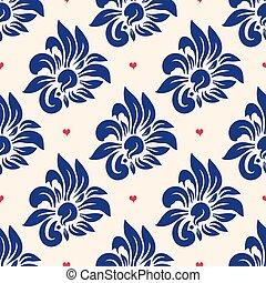 最新流行である, 花, seamless, パターン