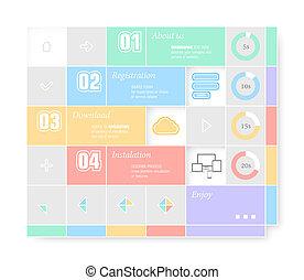 最新流行である, infographic, デザイン