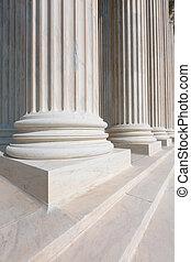 最高裁判所, の, 米国, コラム, 横列