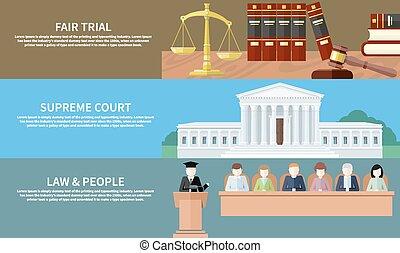 最高, 博覧会, 人々, court., trial., 法律