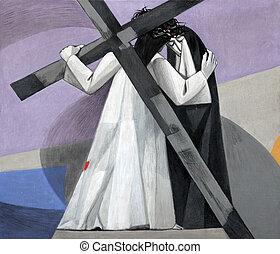 會見, 他的, 站, 耶穌, 產生雜種, 第4, 母親